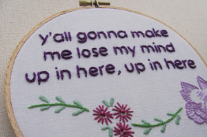 DMX - Rap Lyrics Cross Stitched
